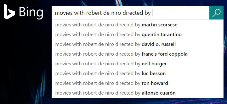Bing Improves Autocomplete Movies